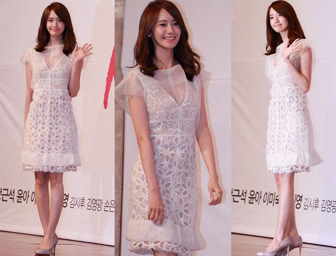 <p> Yoon Ah ngọt ngào trong sắc trắng.</p>