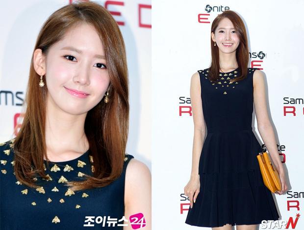 <p> Với lợi thế da trắng, Yoon Ah vẫn tươi trẻ khi mặc đồ đen.</p>
