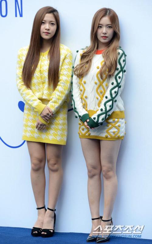 <p> Thành viên của nhóm Red Velvet cũng chạy theo mốt mặc ngắn khoe chân.</p>