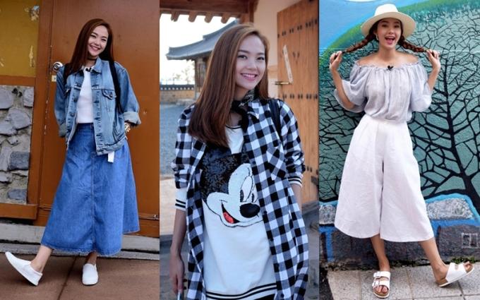"""<p class=""""Normal""""> Nữ diễn viên ngày càng trẻ hóa bằng phong cách thời trang nhí nhảnh. Những xu hướng mới được người đẹp cập nhật và áp dụng với các bộ đồ thường ngày. Hiện Minh Hằng là một trong số mỹ nhân Việt có phong cách thời trang đường phố nổi bật.</p>"""