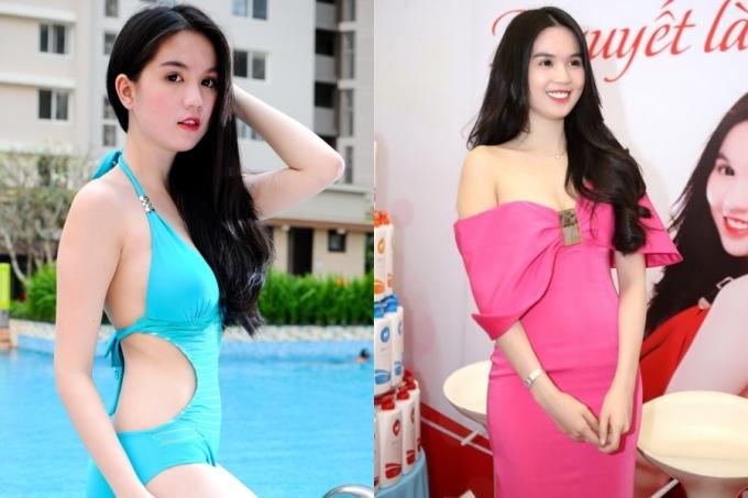 <p> Năm 2013, Ngọc Trinh trung thành với phong cách trang điểm Hàn Quốc, cô chuộng các thiết kế cắt khoét, trễ nải để khoe hình thể và làn da.</p>