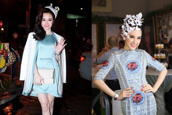 """<p class=""""Normal""""> Diện đồ phá cách, phối đồ sáng tạo, nhiều lần cô được xếp vào danh sách sao mặc đẹp. Angela Phương Trinh cũng không ngại nhái các thương hiệu nổi tiếng để có trang phục ưng ý dự sự kiện.</p>"""