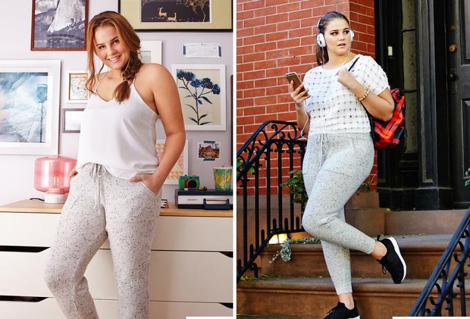 """<p class=""""Normal""""> Sweatpants (quần thể thao) kết hợp cùng áo ngủ hai dây là một trong những bộ cánh phổ biến được nhiều người mặc ở nhà. Khi muốn ra phố, chỉ cần thay chiếc áo ngủ bằng một chiếc áo phông, áo thun sẽ tạo nên vẻ lịch sự mà vẫn thoải mái.</p>"""