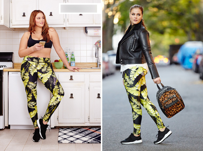 """<p class=""""Normal""""> Legging hoa hòe và bra-top là bộ đồ thường gặp trong phòng tập gym. Khi kết thúc ngày tập, trước khi ra đường, hãy mặc thêm áo khoác da hoặc áo thun dáng dài để trông kín đáo hơn.</p>"""