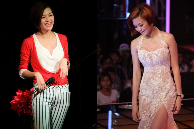 """<p class=""""Normal""""> Trong thời gian tham gia <em>Giọng hát Việt</em>, Thiều Bảo Trang là một trong số thí sinh nổi trội của đội Hồ Ngọc Hà cả về phong cách lẫn giọng hát.</p>"""