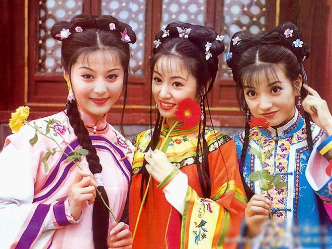 <p> Phạm Băng Băng, Lâm Tâm Như, Triệu Vy thời đóng <em>Hoàn Châu cách cách</em>.</p>