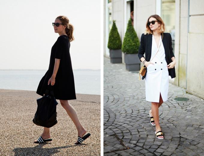 """<p class=""""Normal""""> Loại dép này phù hợp với đồ tối giản, đơn sắc hơn là những bộ áo quần nhiều chi tiết lòe loẹt.</p>"""