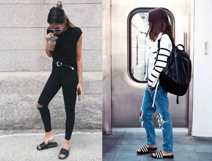 """<p class=""""Normal""""> Với sự lăng xê của làng mốt, sở hữu một đôi dép thập niên 1990 trong tủ đồ được coi là sành điệu. Các cô gái hoàn toàn có thể kết hợp nhiều kiểu quần áo đa dạng, tạo phong cách riêng, càng độc đáo càng tốt.</p>"""