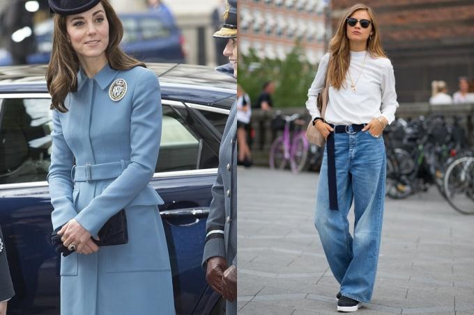 """<p class=""""Normal""""> Áo: Nên mặc áo khoác dáng váy để che sự chênh lệch tỷ lệ cơ thể, đồng thời tạo sự mềm mại.<br /> Quần: Chọn quần ống rộng, ống đứng cạp trễ để tăng kích thước phần chân sao cho cân đối với thân trên.</p>"""