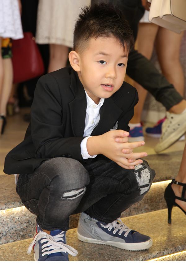 <p> Bé Cà Pháo - con trai riêng của Lê Phương và chồng cũ, diễn viên Quách Ngọc ngoan.</p>