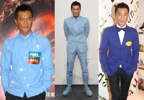 Thiên Lạc chuộng gam xanh ở các sắc độ khác nhau. Anh thường mặc màu này khi đi họp báo, tham gia sự kiện thương mại...