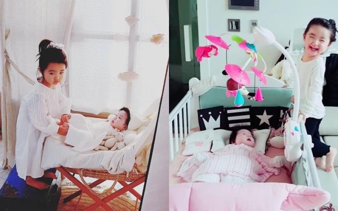 <p> So Ji Hyun kể bé Ha Eun ra dáng chị cả kể từ khi có em.</p>