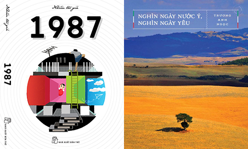 Sách 1987 (trái) và cuốn Nghìn ngày nước Ý, nghìn ngày yêu lọt top 10 giải thưởng sách Chạm.