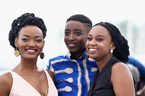 Ê-kíp phim dự buổi công chiếu ở Cannes. Từ trái sang:Sheila Munyiva, Samantha Mugatsia vàWanuri Kahiu.