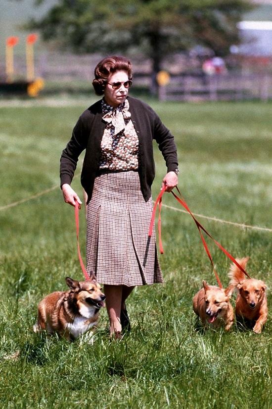 """<p class=""""Normal""""> Năm 1980, người phụ nữ đứng đầu hoàng gia Anh phối đồ tinh tế theo phong cách họa tiết với họa tiết. Bà chọn áo sơ mi lụa hoa nhí với chân váy kẻ ca rô nhỏ.</p>"""