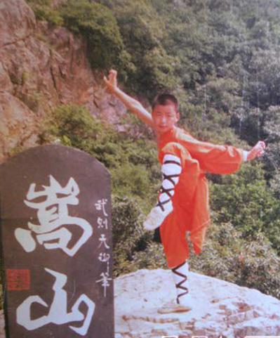 Vương Bảo Cường luyện võ ở Thiếu Lâm Tự thời bé.