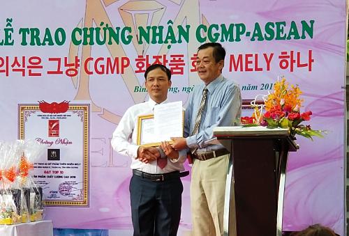 Mỹ phẩm MelyOne nhận giấy chứng nhận CGMP