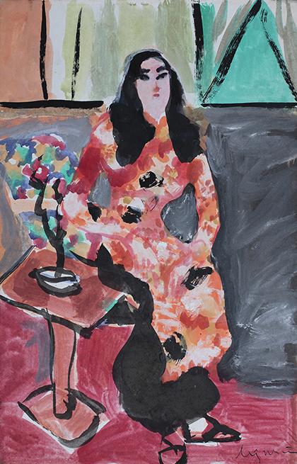Tác phẩm Thiếu nữ Hà thành (1978) của cố họa sĩ Lưu Công Nhân.