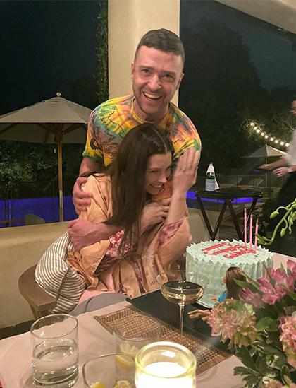 Justin Timberlake tổ chức sinh nhật lần thứ 38 cho vợ.  Ảnh: Instagram.
