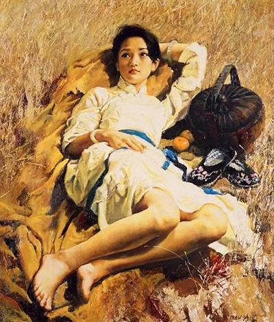 Bức Thiếu nữ trong nắng của Phan Hồng Hải.