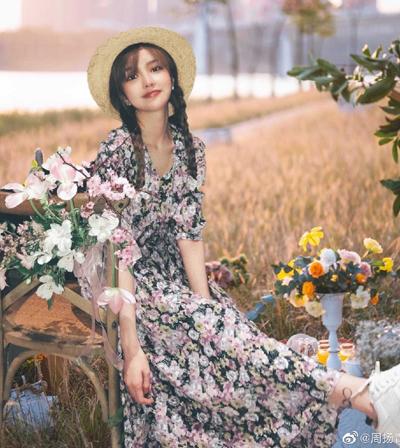 Người mẫu Chu Dương Thanh. Ảnh: Weibo.