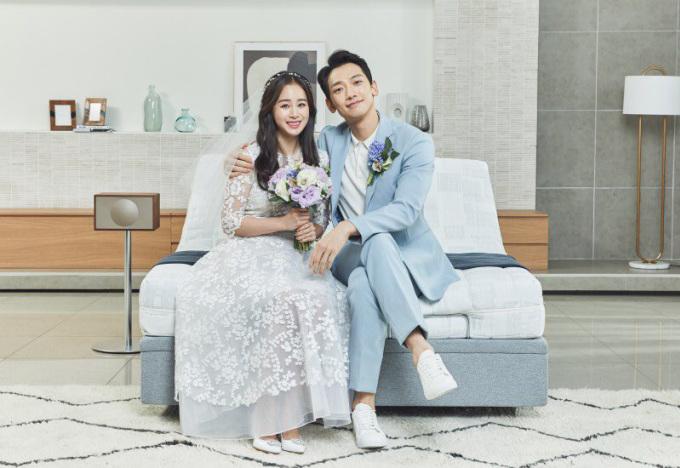 Vợ chồng Tae Hee - Rain. Ảnh: Naver.