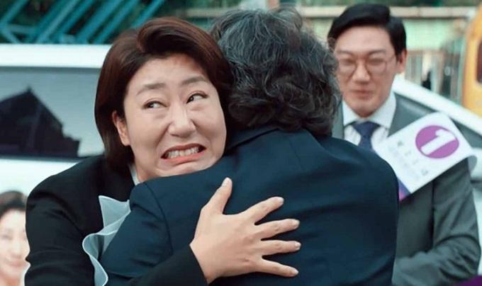 Biểu cảm hài hước của Ra Mi Ran trong phim. Ảnh: CGV.