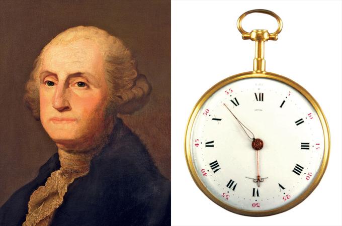 Tổng thống George Washington sở hữu chiếc đồng hồ vỏ tròn cỡ lớn từ năm 1789. Trước đó, ông viết thư cho Gouverneur Morris – người tham gia soạn thảo Hiến pháp tiểu bang New York- nhờ mua một chiếc đồng hồ đơn giản, màu vàng, mỏng, chất lượng tốt ở Paris. Washington gửi kèm 25 đồng Guineas, dặn Morris có thể trả cao hơn nếu cần thiết. Morris đã cân nhắc một vài cửa hàng nhưng không vừa ý, ông tìm đến Jean Antoine Lépine – thợ đồng hồ giỏi nhất lúc bấy giờ, từng chế tác cho vua Louis XVI, Louis XV và Napoleon Bonaparte. Morris mua hai mẫu giống hệt nhau, gửi một chiếc cho Washington, giữ cái còn lại bên mình. Đồng hồ của tổng thống Hoa Kỳ có mã hiệu 5378, được cất giữ trong gia đình ông cho đến 1935. Trên mặt đồng hồ khắc dòng chữ Lepine (tên bộ chuyển động), Invenit Et Fecit (phát minh và tạo ra nó)- hiện là dòng slogan quen thuộc của hãng F.P. Journe.