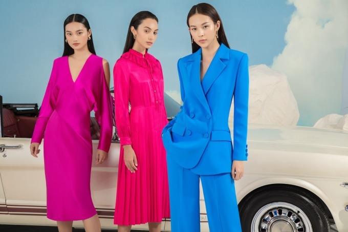 Điểm chung của các bộ sưu tập Xuân Hè 2020 năm nay là tông màu rực rỡ, gửi gắm tinh thần lạc quan. Ảnh: Vinh Lưu.