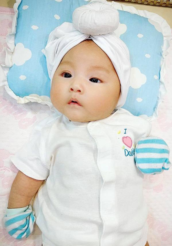 Con gái Sỹ Luân - bé An Nhiên - được bốn tháng tuổi. Ảnh: Sỹ Luân.