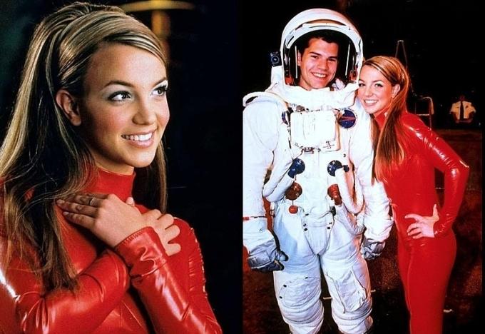 Britney Spears ở hậu trường quay MV.