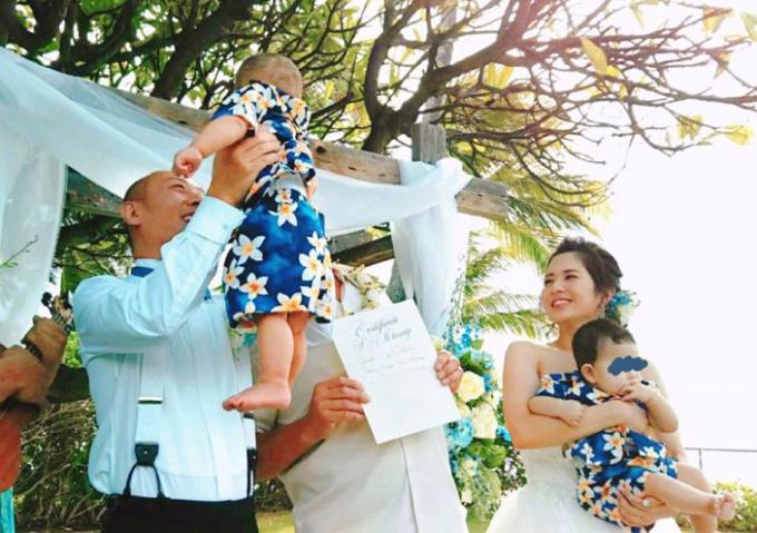 Sola Aoi bên chồng con. Ảnh: ITmedia.