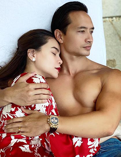 Hà Hồ bên Kim Lý trong chuyến nghỉ dưỡng cuối tuần ở TP HCM. Ảnh: Nhân vật cung cấp.