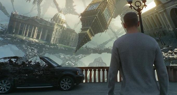 Những kiến trúc, vật thể tồn tại theo cách kỳ lạ là điểm nhấn hình ảnh của phim. Ảnh: Galaxy.