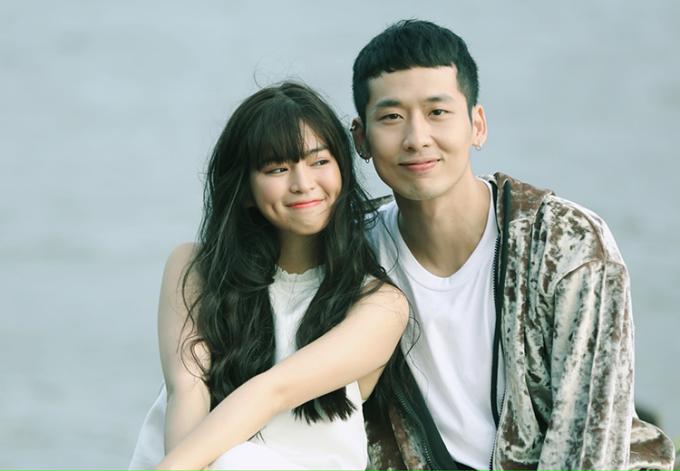 Tuấn Trần bên Khánh Vân trong web-drama Xin chào Papa. Ảnh: Bil.