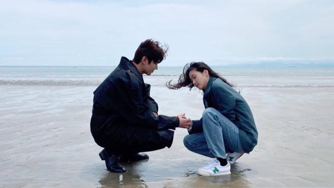 Khoảnh khắc bên Kim Go Eun do tài tử đăng trên trang cá nhân. Ảnh: Instagram.