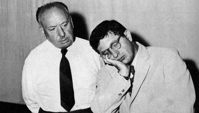 Bernard Herrmann (r.) with Alfred Hitchcock