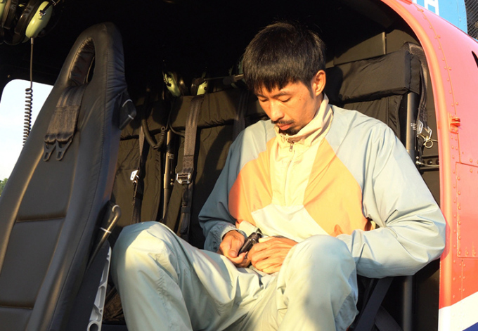 Đen Vâu thuê trực thăng quay MV mới. Ảnh: Nhật Duy.