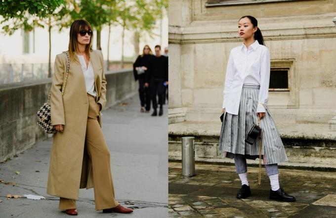 Loafer lấy cảm hứng từ thời trang nam giới, được biến tấu dưới dạng giày lười đế bệt hoặc gót vuông, cao 3-7 cm. Bạn gái có thể hóa nữ sinh trung học khi kết hợp với váy đồng phục, nhưng cũng có thể trông trưởng thành hơn bằng cách mix với trench coat hoặc áo vest.