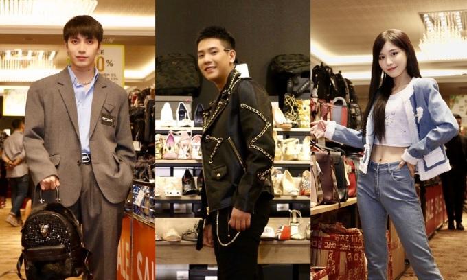 Các nghệ sĩ, người có tầm ảnh hưởng cũng là tín đồ mua sắm hàng hiệu. Từ trái qua: Kye, Quân AP và Han Sara.