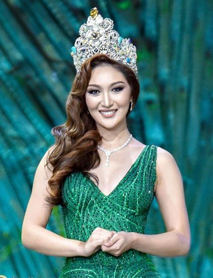 Karen Ibasco đăng quang Hoa hậu Trái đất năm 2018. Ảnh: The Qcrown.