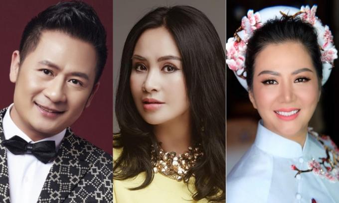 (Từ trái qua) Ca sĩ Bằng Kiều, Thanh Lam và Đinh Hiền Anh. Ảnh: Tony Đinh, TL.