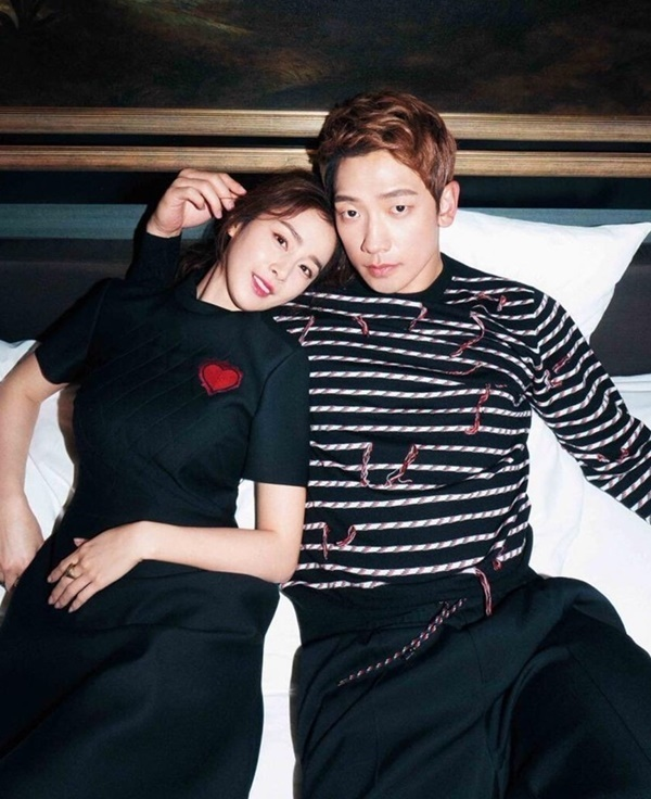 Bi Rain và Kim Tae Hee. Ảnh: Harpers Bazaar.