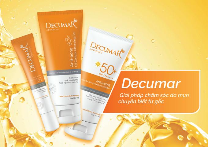 Bộ 3 Decumar Advanced rút ngắn quy trình chăm sóc da mụn cho teen.