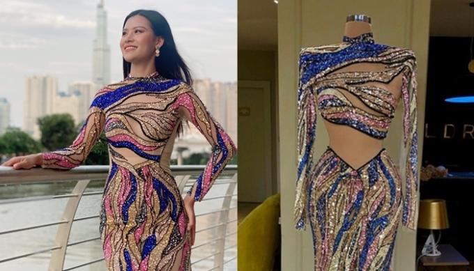 Mẫu váy đại diện Việt Nam (trái) và của nhà mốt Valdrin Sahiti không có sự khác biệt. Ảnh: Cao Huy, Valdrin Sahiti.