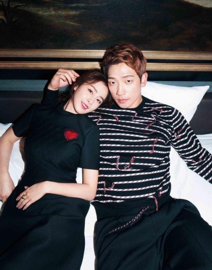 Bi Rain và Kim Tae Hee là một trong những cặp sao quyền lực nhất Hàn Quốc. Ảnh: Harpers Bazaar.