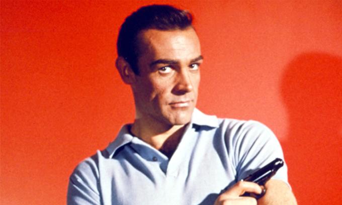 Sean Connery nổi tiếng với vai điệp viên 007. Ảnh: Everett Collection.