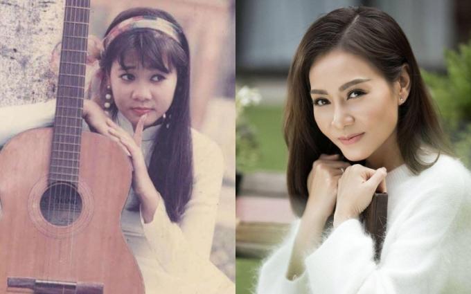 Thu Minh nhắc lại hình ảnh đoạt giải nhất cuộc thi Tiếng hát Truyền hình TP HCM với bài Bóng cây Kơ-nia, hiện tại giọng ca Bay đã là mẹ của một nhóc tì
