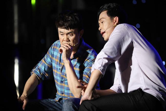 Chí Tài, Hoài Linh trong show Những cuộc tình... nghiệt ngã năm 2019. Ảnh: Kha Miên.