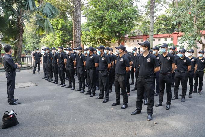 Ban tổ chức bố trí 180 người trong lực lượng bảo vệ, hậu cần, trong đó có 100 người giữ vai trò đảm bao an ninh, trật tự.